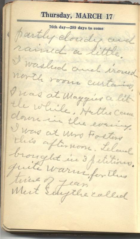 Roberta Hopkins' Diary 1927 (p. 82)