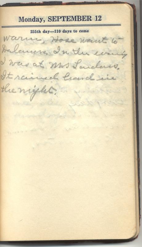 Roberta Hopkins' Diary 1927 (p. 261)
