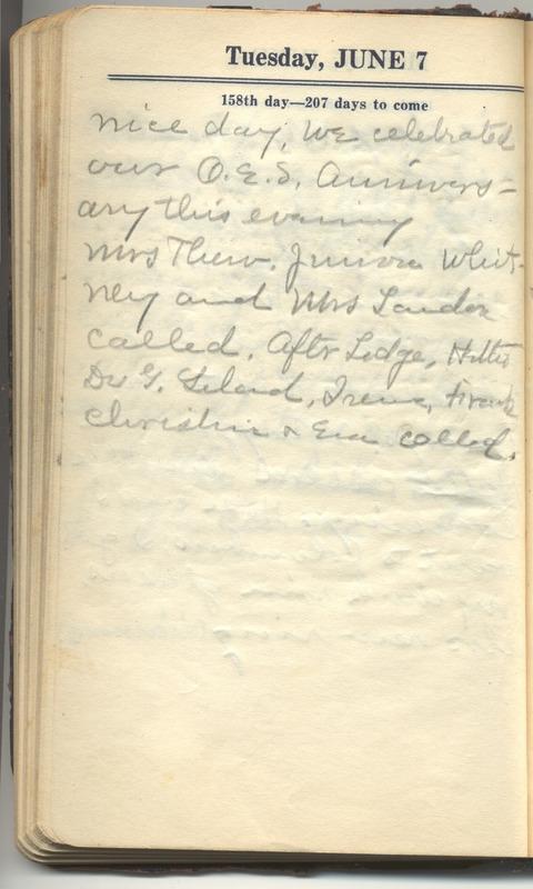 Roberta Hopkins' Diary 1927 (p. 164)