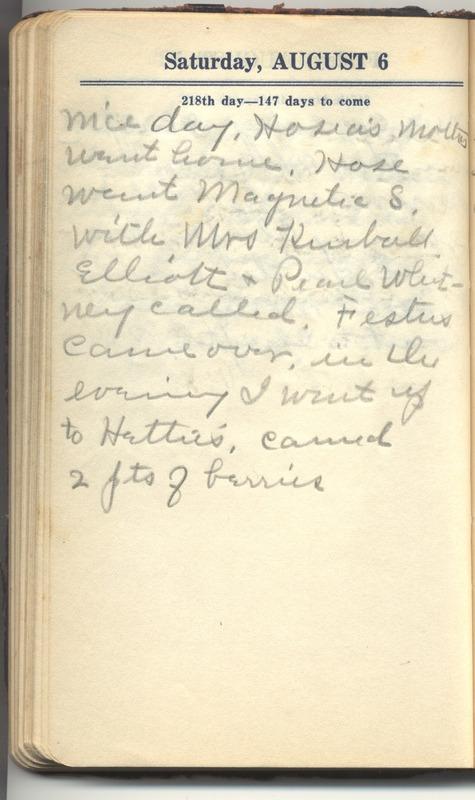 Roberta Hopkins' Diary 1927 (p. 224)
