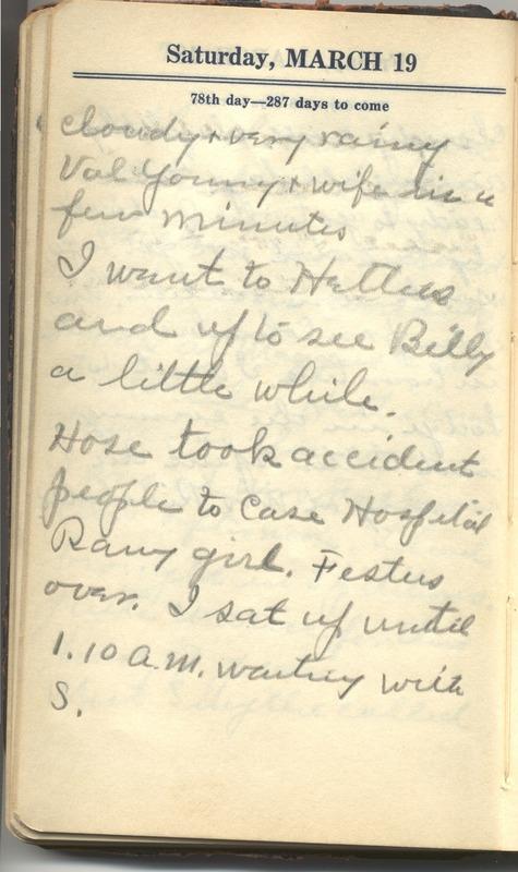 Roberta Hopkins' Diary 1927 (p. 84)