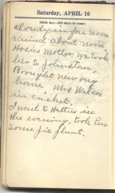 Roberta Hopkins' Diary 1927 (p. 112)