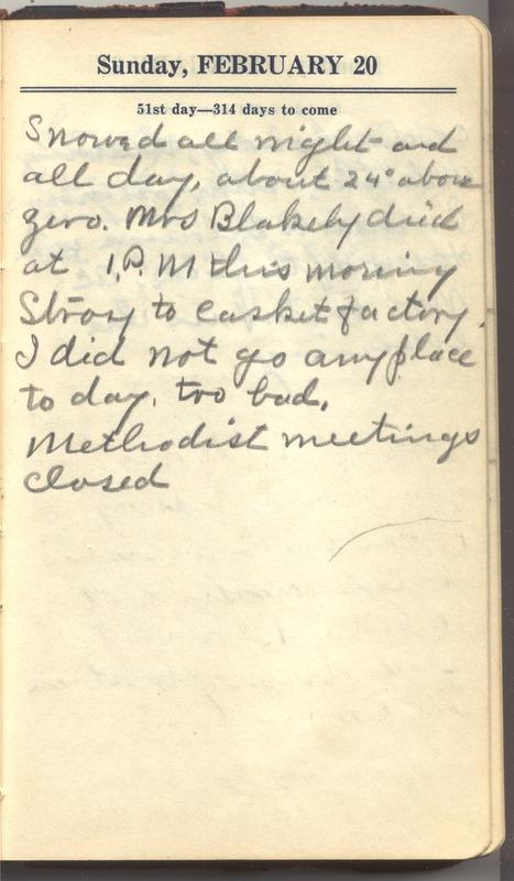 Roberta Hopkins' Diary 1927 (p. 57)