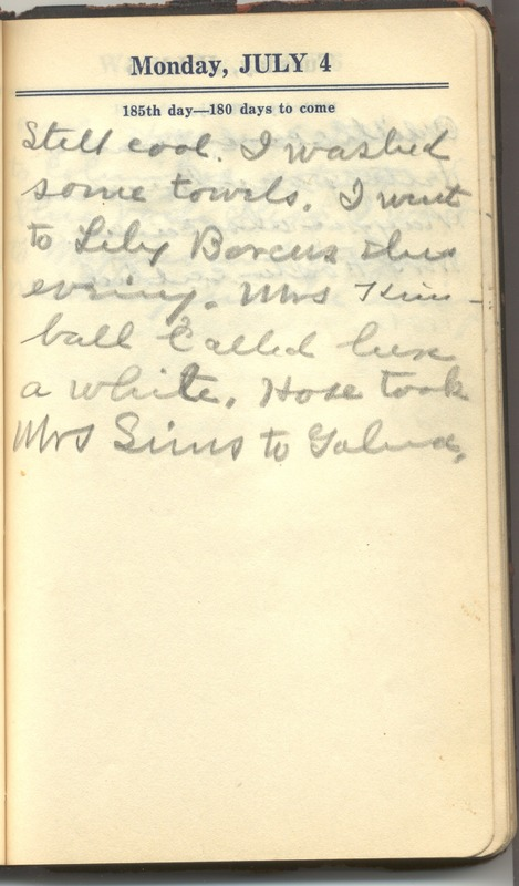 Roberta Hopkins' Diary 1927 (p. 191)