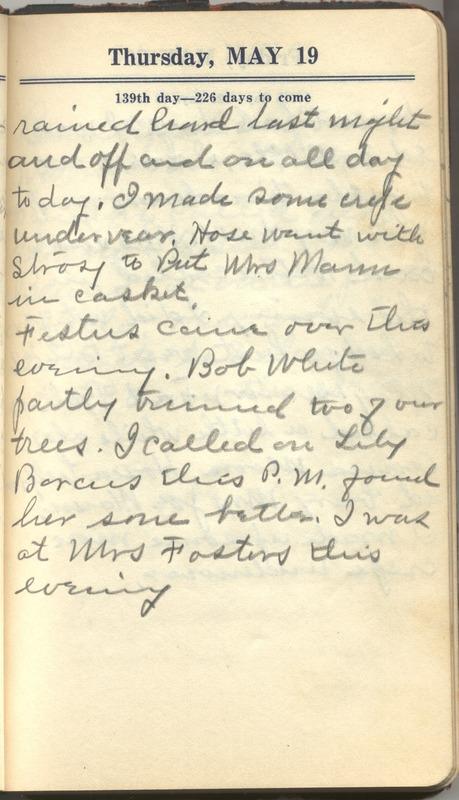 Roberta Hopkins' Diary 1927 (p. 145)