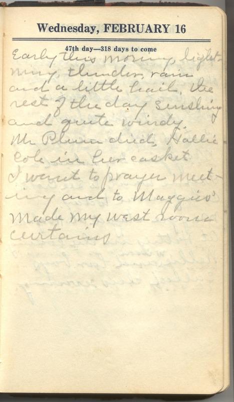 Roberta Hopkins' Diary 1927 (p. 53)