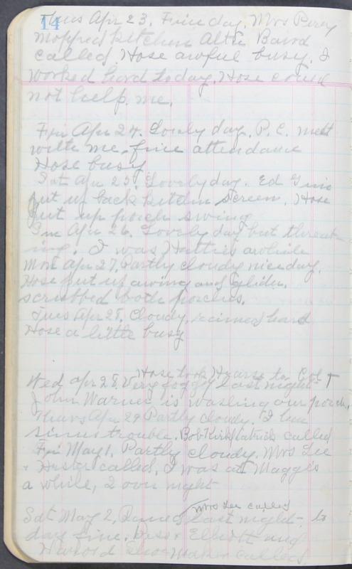 Roberta Hopkins' Journal 1941-1943 (p. 28)