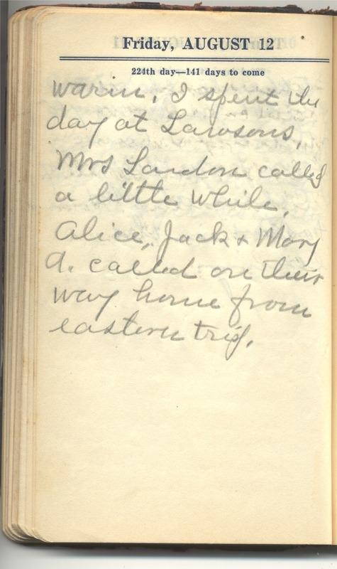 Roberta Hopkins' Diary 1927 (p. 230)