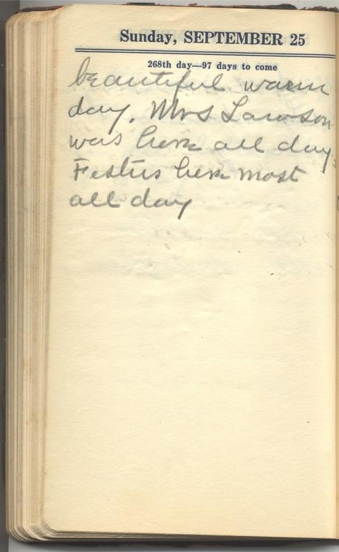 Roberta Hopkins' Diary 1927 (p. 274)