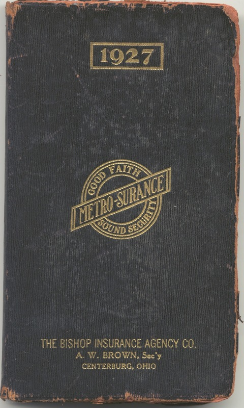 Roberta Hopkins' Diary 1927 (p. 1)