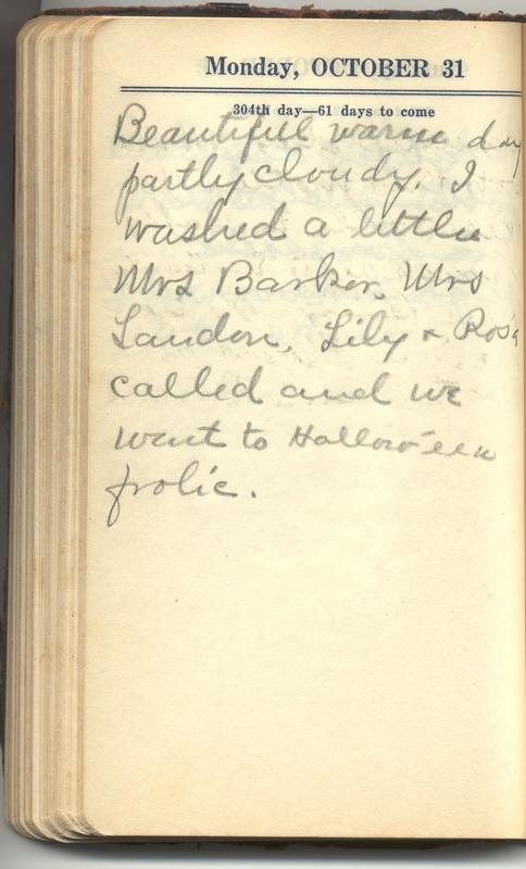 Roberta Hopkins' Diary 1927 (p. 310)