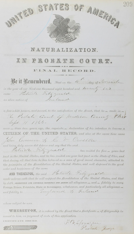 Naturalization Records Delaware County OH (p. 343)