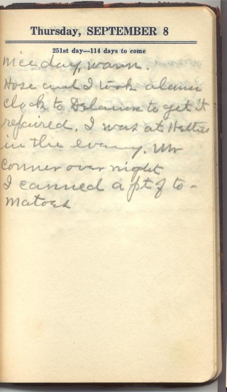 Roberta Hopkins' Diary 1927 (p. 257)
