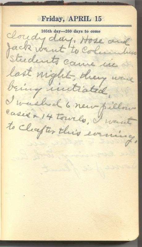 Roberta Hopkins' Diary 1927 (p. 111)