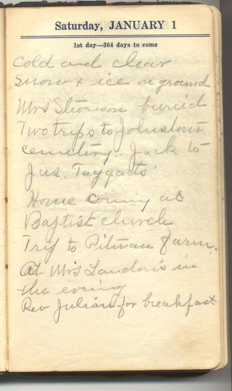 Roberta Hopkins' Diary 1927 (p. 7)