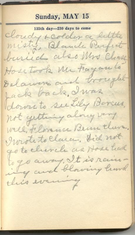 Roberta Hopkins' Diary 1927 (p. 141)