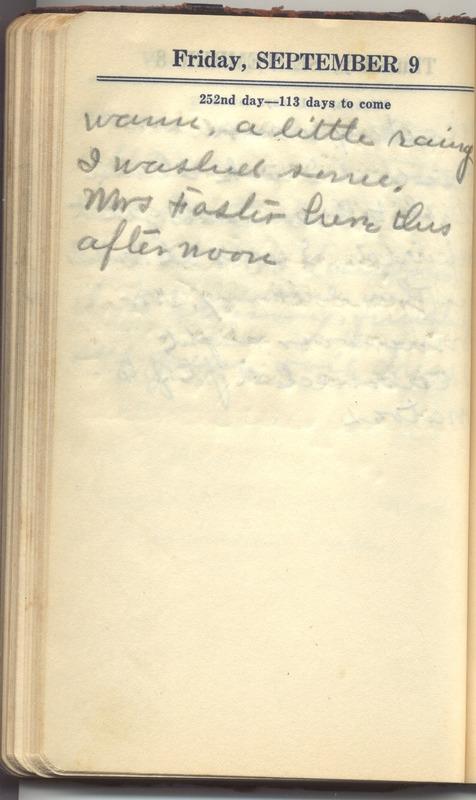 Roberta Hopkins' Diary 1927 (p. 258)