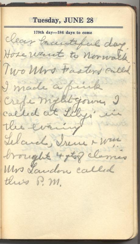Roberta Hopkins' Diary 1927 (p. 185)