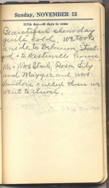 Roberta Hopkins' Diary 1927 (p. 323)