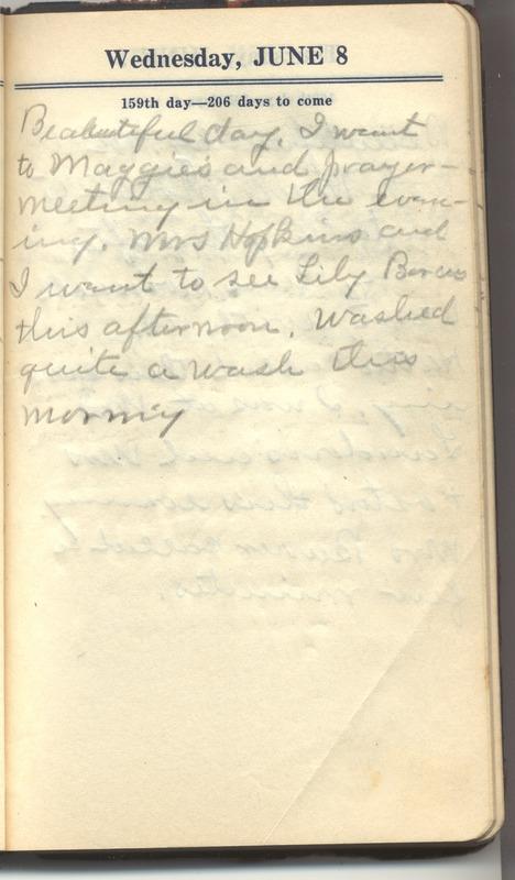 Roberta Hopkins' Diary 1927 (p. 165)