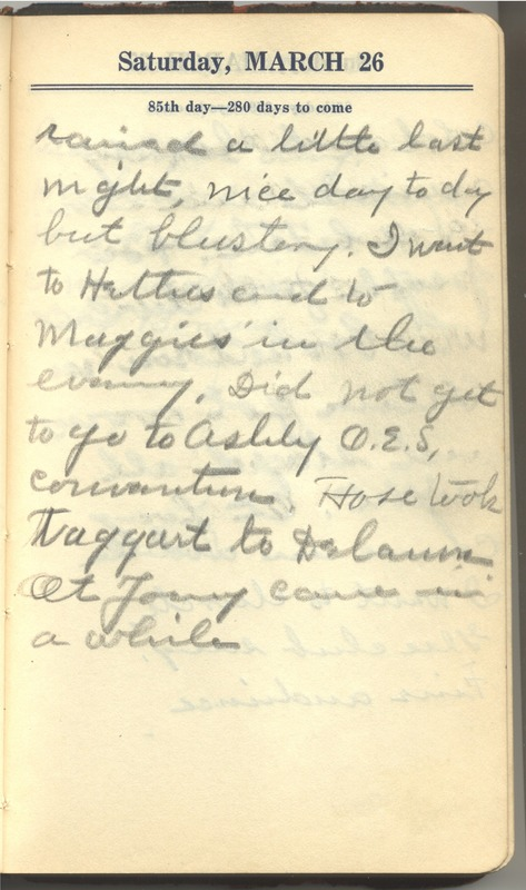 Roberta Hopkins' Diary 1927 (p. 91)