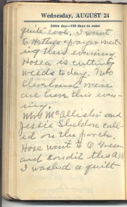 Roberta Hopkins' Diary 1927 (p. 242)