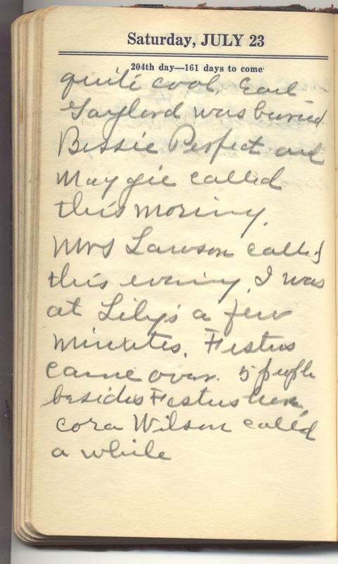 Roberta Hopkins' Diary 1927 (p. 210)