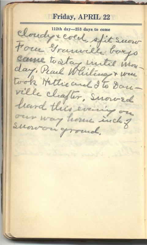 Roberta Hopkins' Diary 1927 (p. 118)