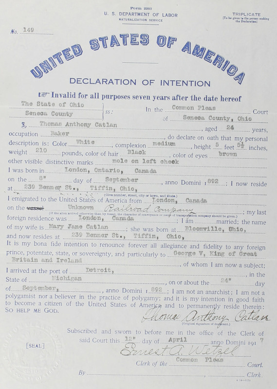 Naturalization Records Delaware County OH (p. 337)