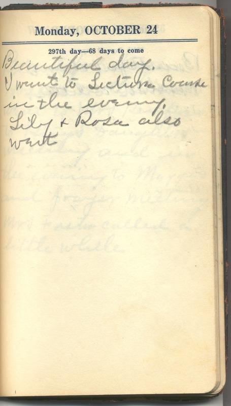 Roberta Hopkins' Diary 1927 (p. 303)