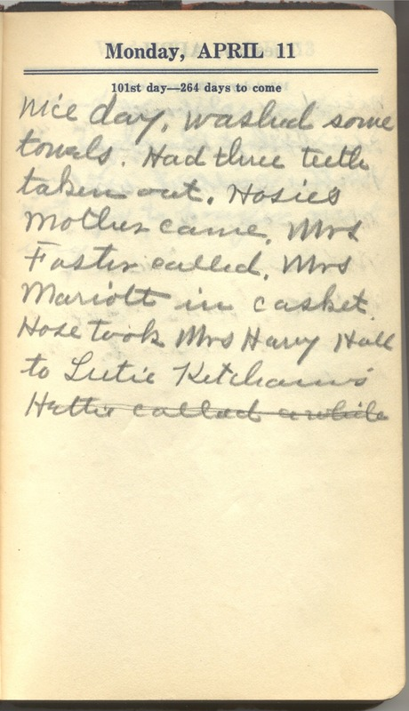 Roberta Hopkins' Diary 1927 (p. 107)