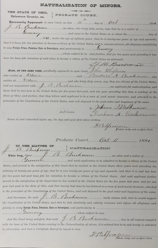 Naturalization Records Delaware County OH (p. 271)