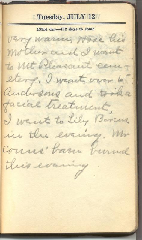 Roberta Hopkins' Diary 1927 (p. 199)
