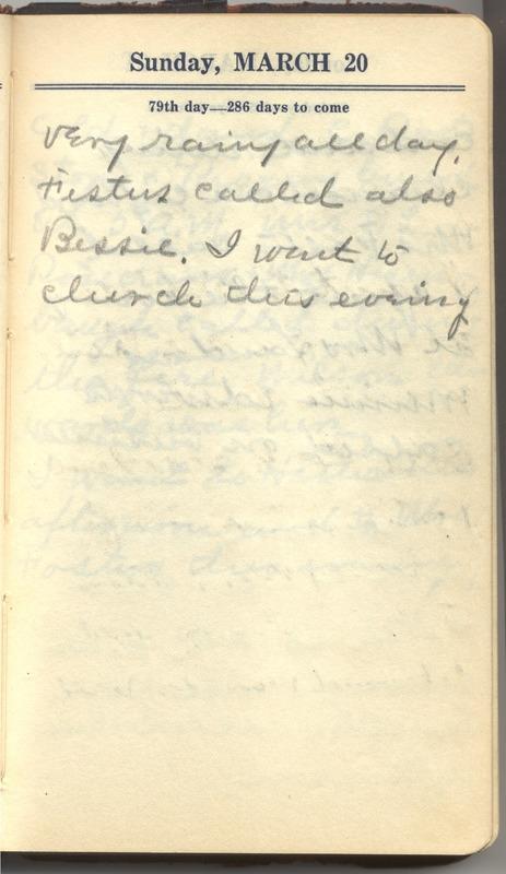 Roberta Hopkins' Diary 1927 (p. 85)