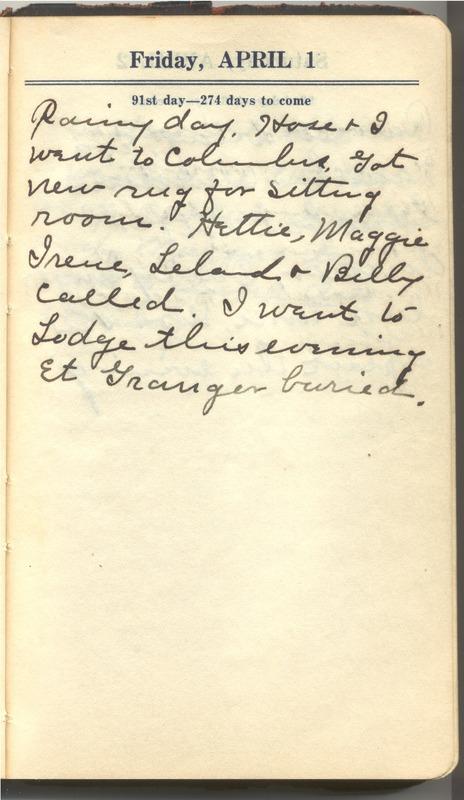 Roberta Hopkins' Diary 1927 (p. 97)