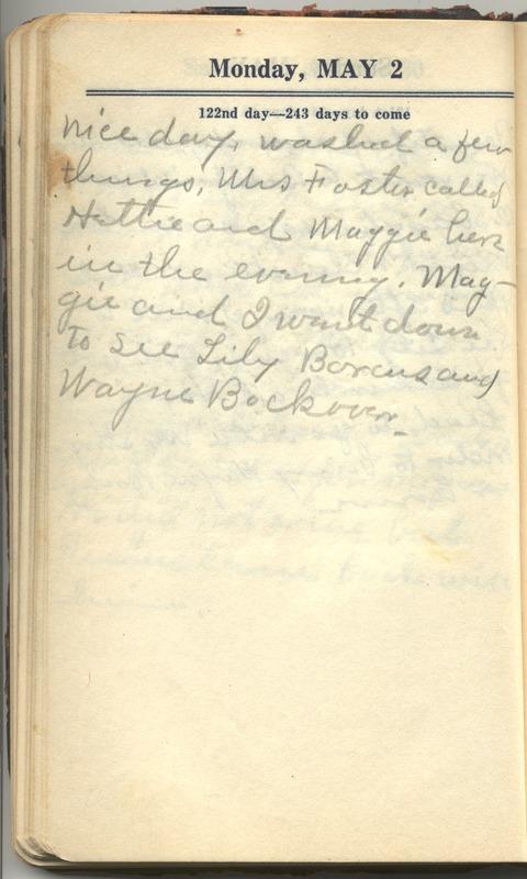 Roberta Hopkins' Diary 1927 (p. 128)