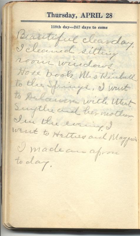 Roberta Hopkins' Diary 1927 (p. 124)