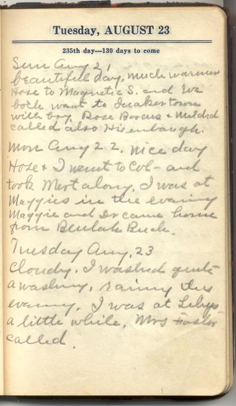 Roberta Hopkins' Diary 1927 (p. 237)