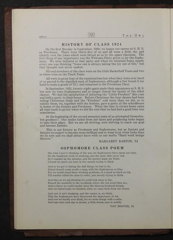 The Owl, Vol. II, 1922 (p.20)