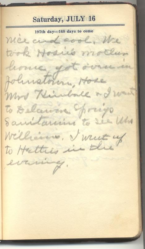 Roberta Hopkins' Diary 1927 (p. 203)