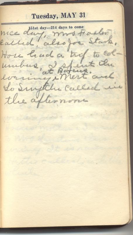 Roberta Hopkins' Diary 1927 (p. 157)