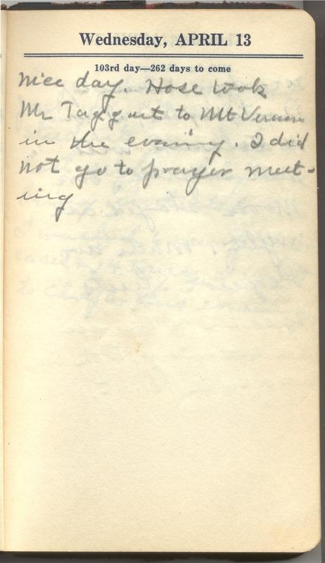 Roberta Hopkins' Diary 1927 (p. 109)
