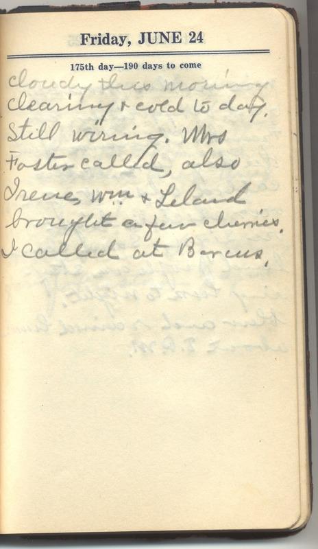 Roberta Hopkins' Diary 1927 (p. 181)