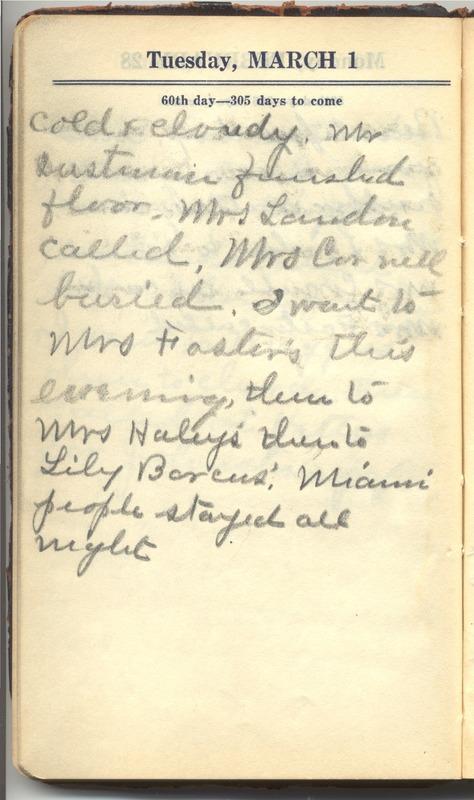 Roberta Hopkins' Diary 1927 (p. 66)