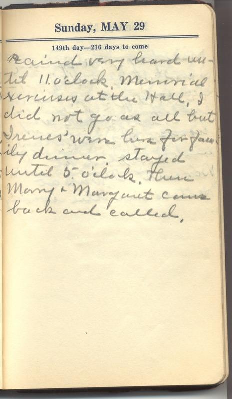 Roberta Hopkins' Diary 1927 (p. 155)
