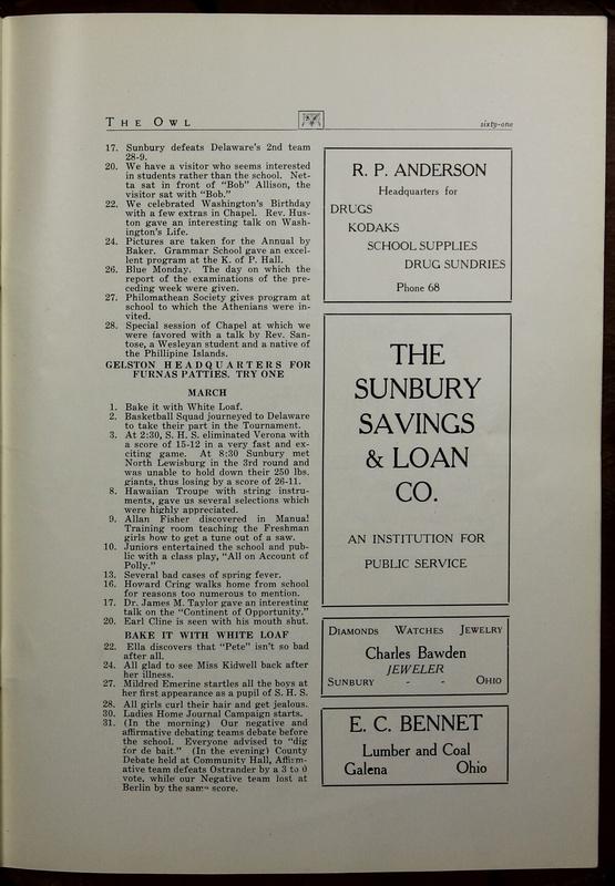 The Owl, Vol. II, 1922 (p.63)