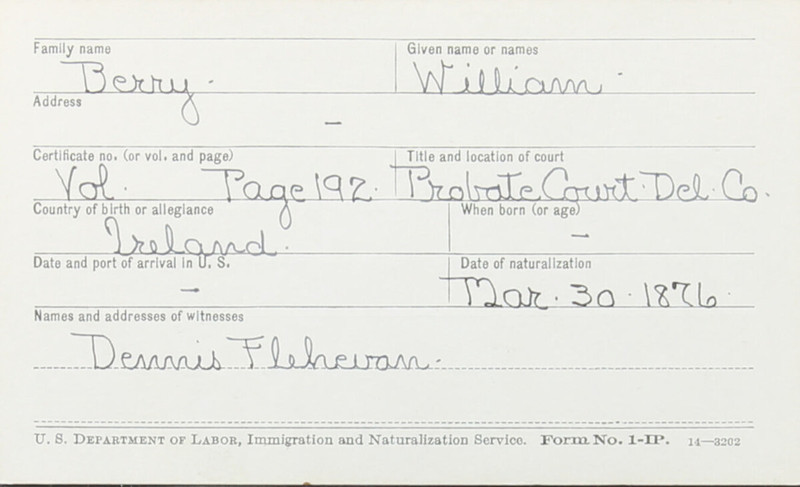 Naturalization Records Delaware County OH (p. 169)
