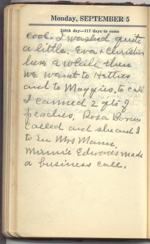 Roberta Hopkins' Diary 1927 (p. 254)