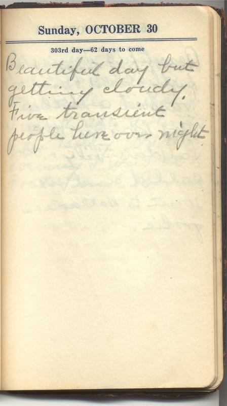 Roberta Hopkins' Diary 1927 (p. 309)