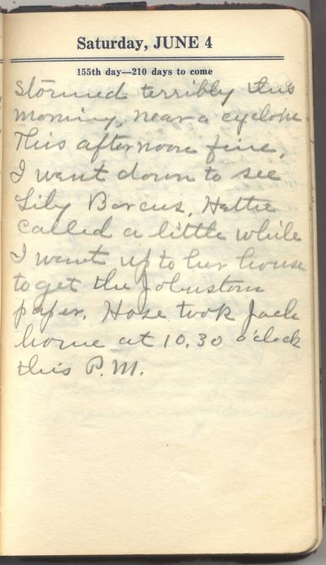 Roberta Hopkins' Diary 1927 (p. 161)